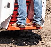 Close-Up Of Riding Platform On Bobcat MT100 Mini Track Loader