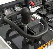 Close-Up Image Of Mini Track Loader Joystick Controls
