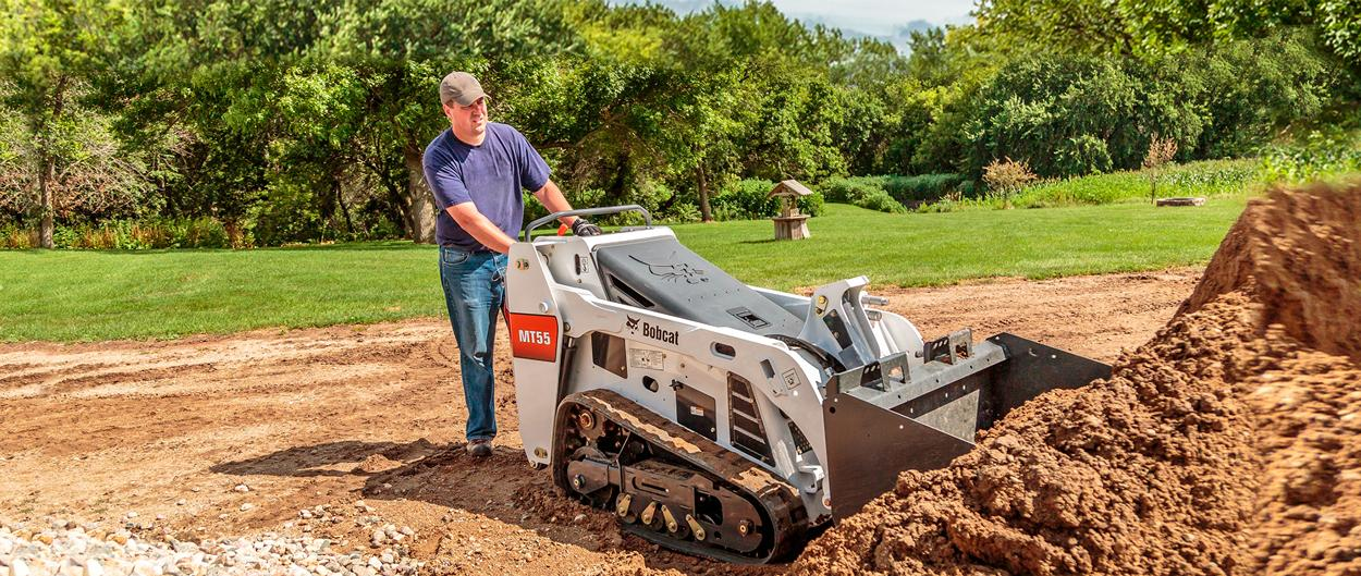 Bobcat MT55 mini track loader with bucket