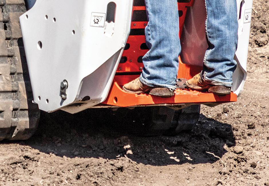 Close-Up Image Of Riding Platform On A Mini Track Loader