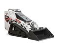 Front Angle Studio Image Of Bobcat MT100 Mini Track Loader With Bucket Attachment