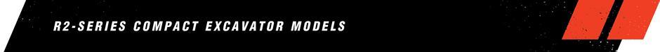 R2-Series Compact Excavator Models Banner