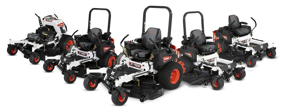 The Lineup Of Bobcat Zero-Turn Mowers