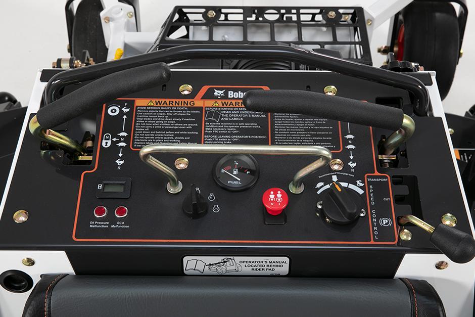 Bobcat ZS4000 Zero-Turn Stand-On Mower Tool-Free Controls