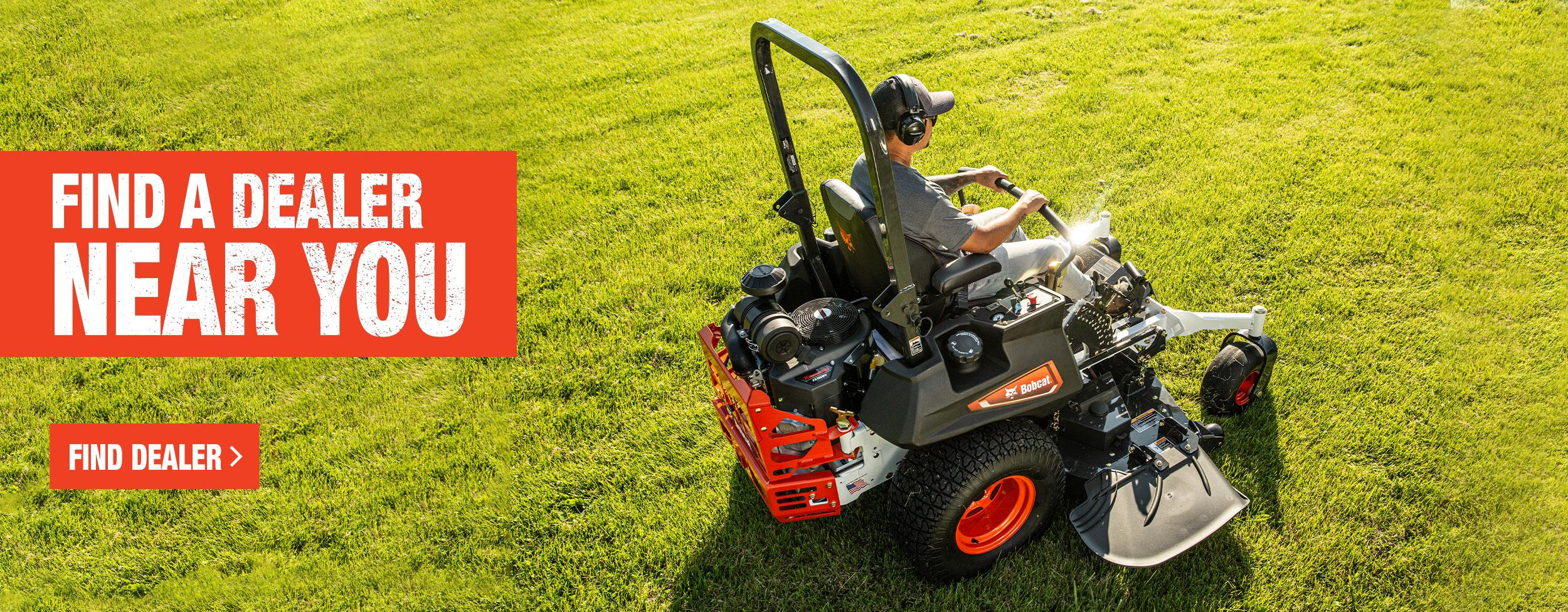 Bobcat ZT7000 Mower Overhead View With Find A Dealer Call To Action