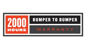 2000 Hours Bumper-To-Bumper Warranty