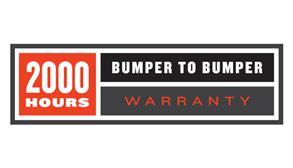 2000 Hours Bumper-To-Bumper Warranty