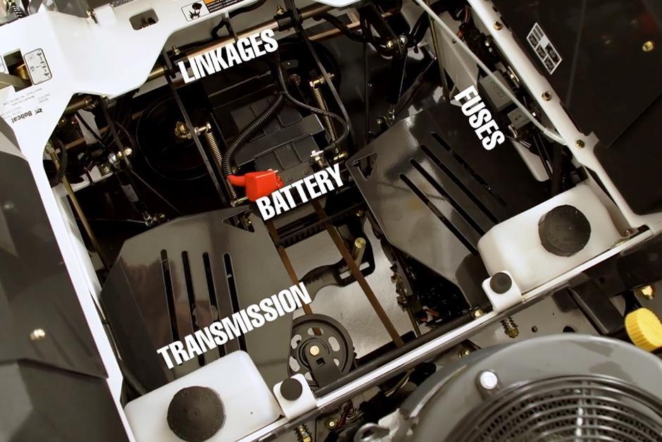 Bobcat Zero-Turn Mower Service Access Points