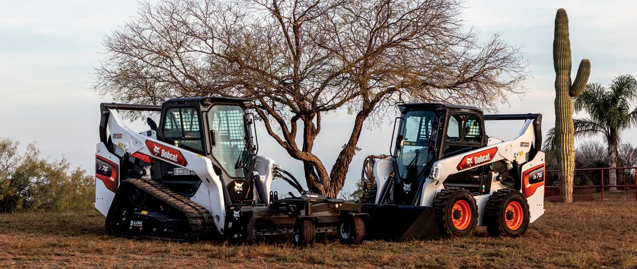 Bobcat R-Series Compact Track Loader And Compact Skid-Steer Loader Parked On Jobsite