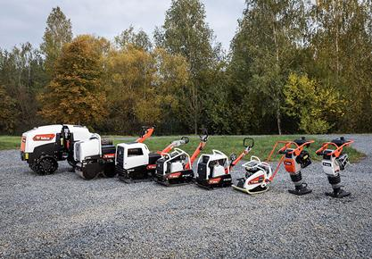 Bobcat lance une nouvelle gamme d'équipements de compactage léger