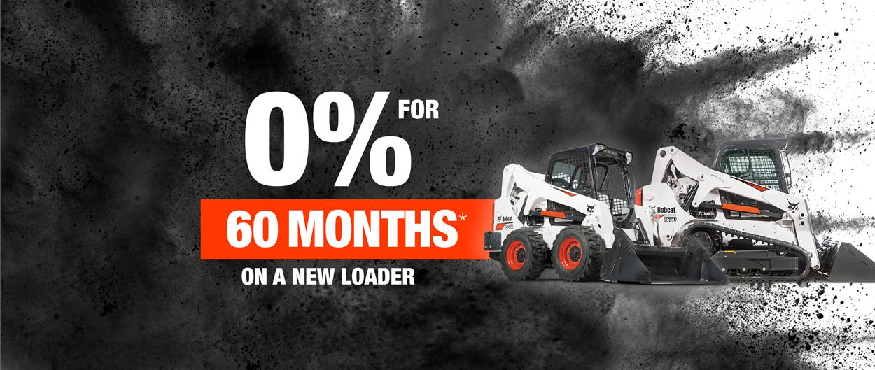 Bobcat T650 compact track loader and S650 skid steer loader with special offer.