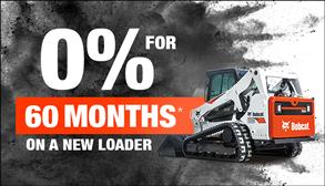 0% for 60 months on new skid-steer and compact track loaders.