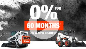 Video of 0% for 60 months on new skid-steer and compact track loaders.