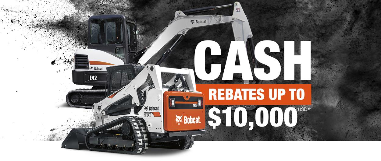 Bobcat T650 compact track loader and E42 compact excavator with special offer.