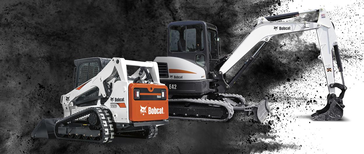 Bobcat T650 compact track loader and E42 compact (mini) excavator.