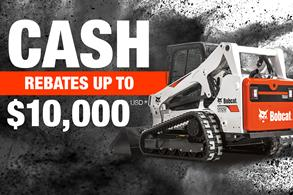 Bobcat T650 compact track loader with rebate offer.