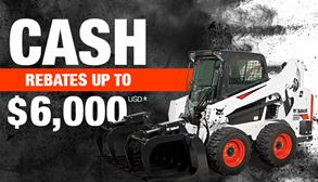 Bobcat S595 skid-steer loader promotion with cash rebates up to $6,000 USD.