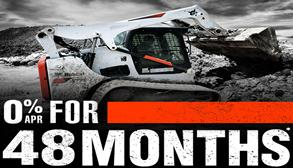 0% for 48 Months on new select Bobcat machines.