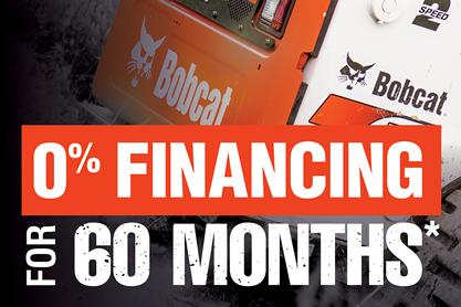 0% For 60 Months Equipment Financing Offer
