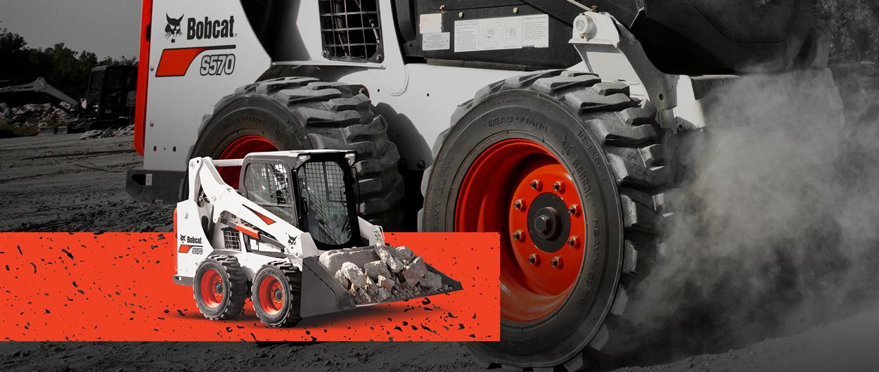 Bobcat S570 skid-steer loader with zero percent APR for 60 months or up to $4,500 USD in cash rebates