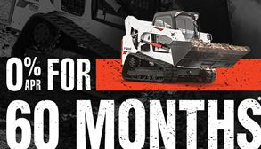 Bobcat T770 compact track loader promotion with zero percent APR for 60 months.