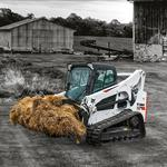 Bobcat T740 compact track loader in farm setting