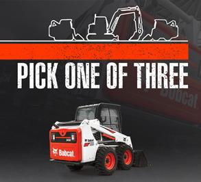 Bobcat S570 skid-steer loader leasing promotion.