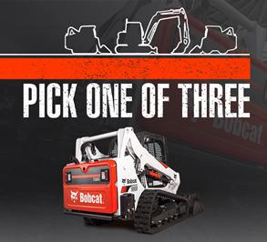 Bobcat T770 compact track loader leasing promotion.