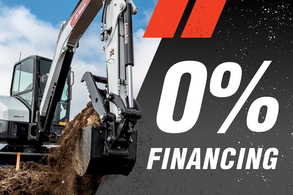 0% Finance Offer For Bobcat Mini Excavators