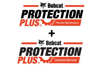 Bobcat Protection Plus Planned Maintenance and Extended Warranty bundle logo.