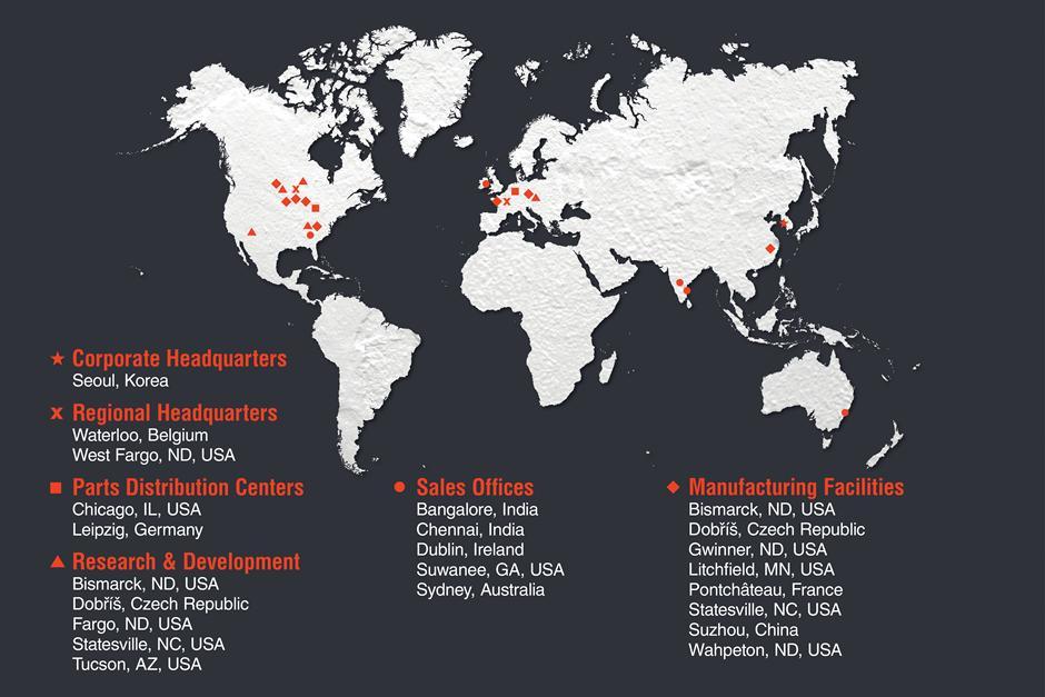 worldwide location of bobcat
