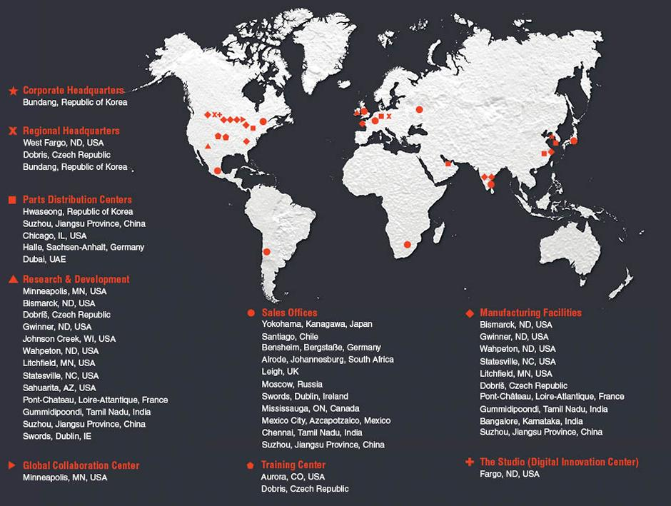 Bobcat Global Locations On Map