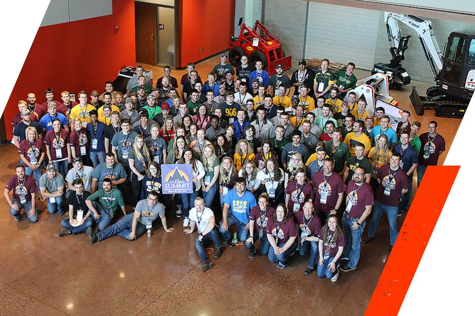 Group Photo Of Students Participating In The Student Summit At The Bismarck Acceleration Center