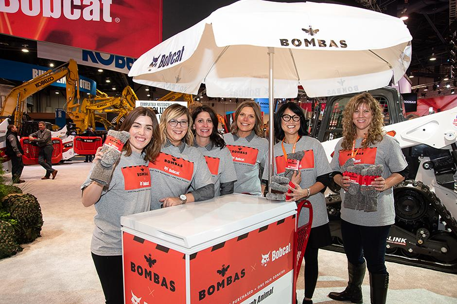 Bombas Giveaway In Bobcat CONEXPO Booth