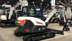 New Bobcat E42 Excavator on New Equipment Trade show Floor