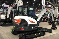 New Bobcat E42 Excavator on New Equipment Trade show Floor