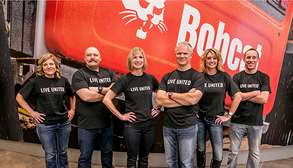 Bobcat Community Outreach Team Volunteer For United Way