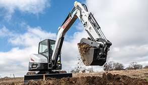 Bobcat Customer Trenching With E50 Mini Excavator