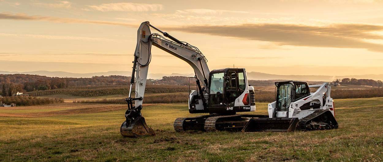 Bobcat E145 Excavator And T870 Compact Track Loader
