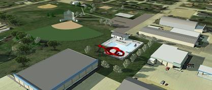 Gwinner land donation aerial renderings