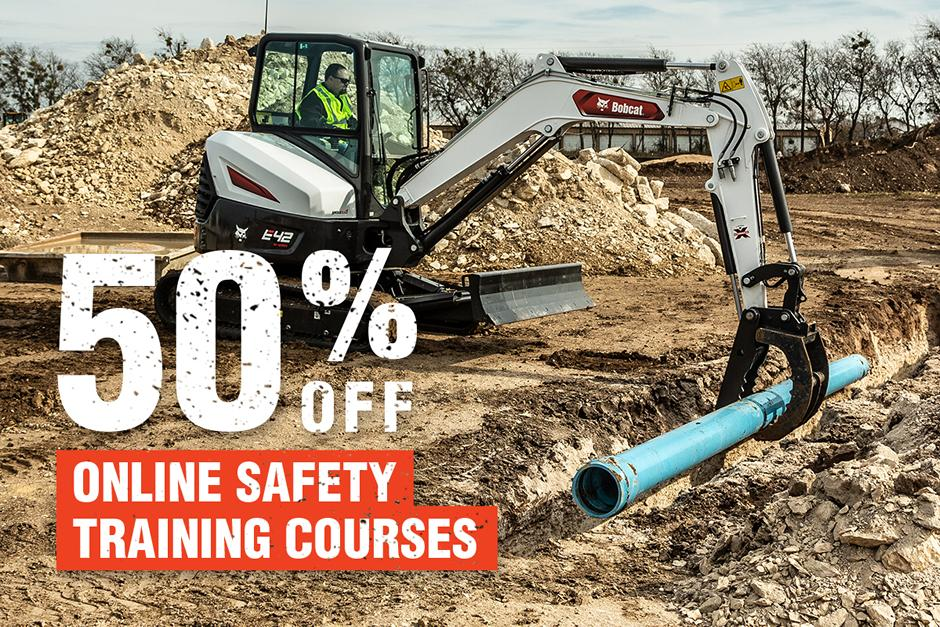 Promotional Image For 50% Off Online Safety Training Courses With Bobcat E42 Excavator