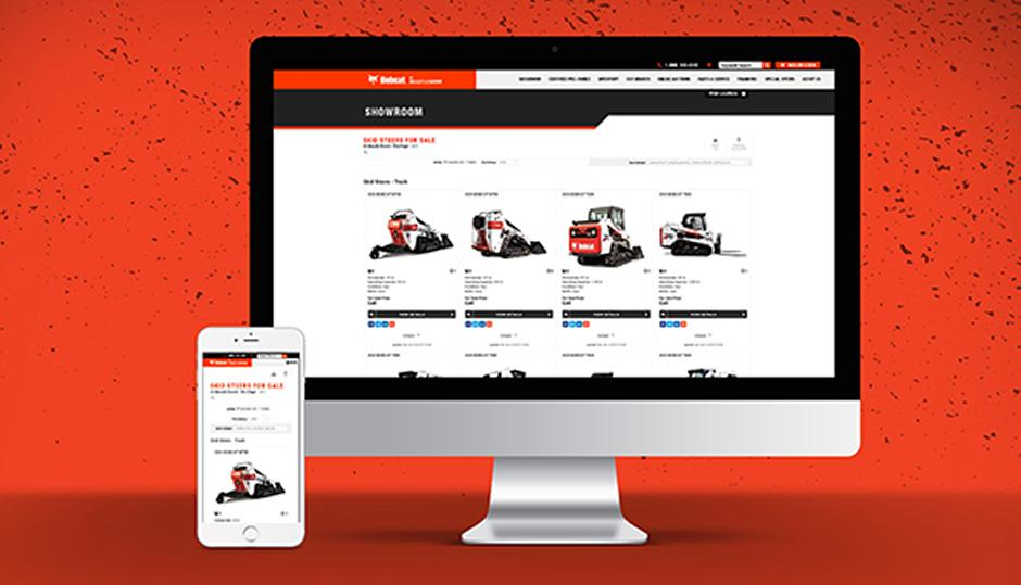 Bobcat Dealer Online Inventory Website Preview