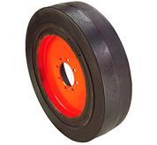 Bobcat skid-steer loader tires smooth solid.