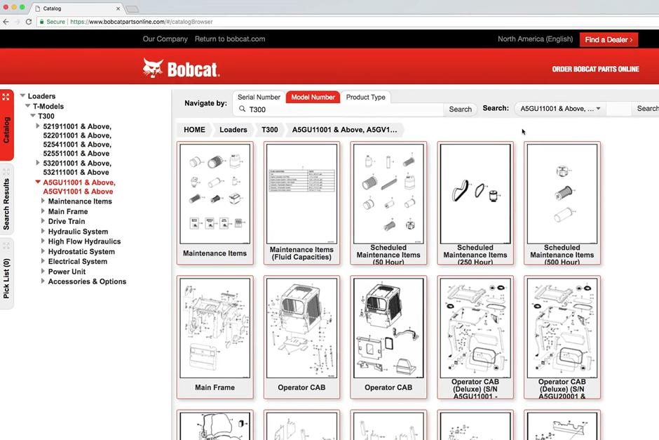 Video showing how to use the Bobcat Online Parts Catalog to find Genuine Bobcat Parts.