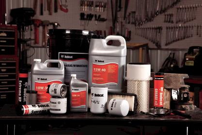 Bobcat genuine parts lubricants and filters.