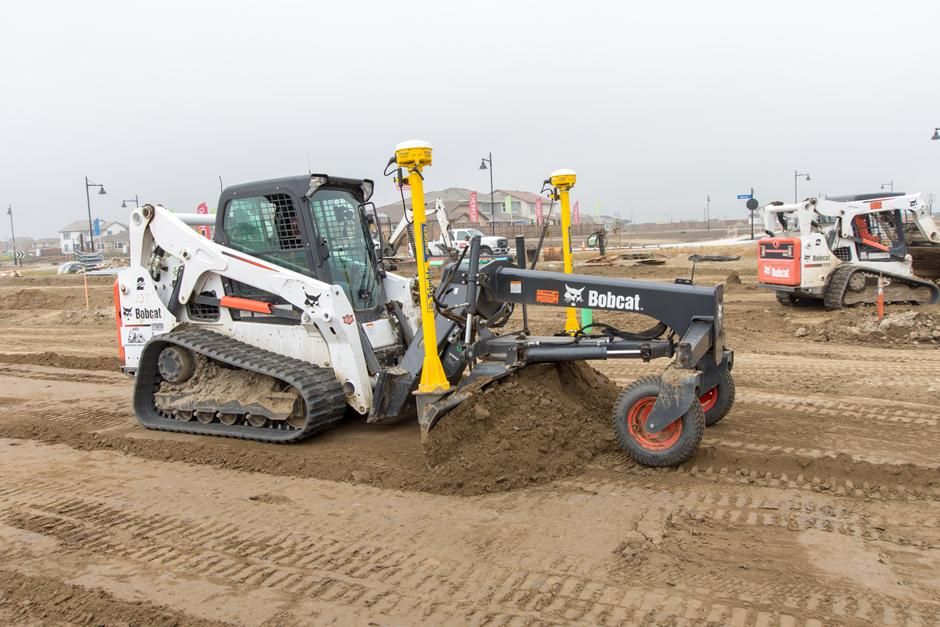 Bobcat Compact Track Loader With Precision Grading Attachment