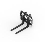 Rigid pallet fork frames