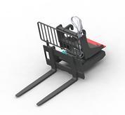 Rotating pallet fork frame