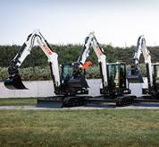 Configuraciones del balancín de la excavadora compacta Bobcat (miniexcavadora).