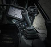 Joysticks on Bobcat compact excavator (mini excavators).